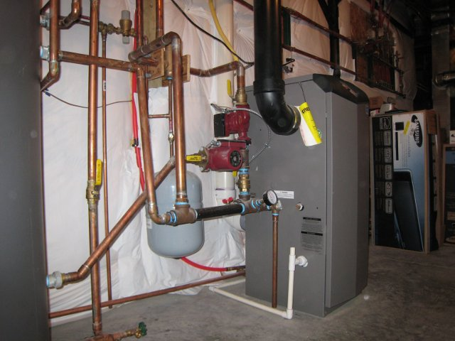 boiler for radiant in floor heat and domestic hot water 2